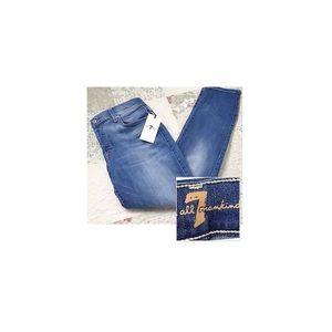 7 for all Mankind Josefina boyfriend Jeans 28 Blue